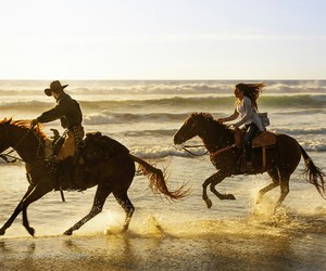beach, best friends, and caballos image
