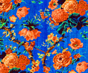 flowers, pattern, and blue image