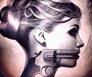 girl, gun, and weapon image