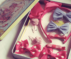 cute, bow, and girly image