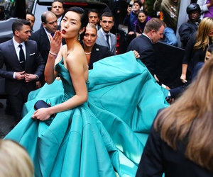dress, fashion, and liu wen image