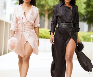 black woman, fashion, and pink image