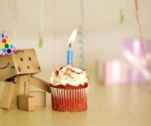 danbo, birthday, and cupcake image