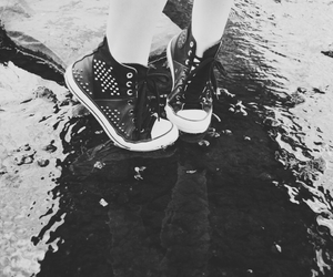 black and white, converse, and fashion image