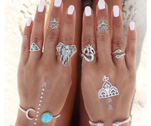 boho, summer, and nails image