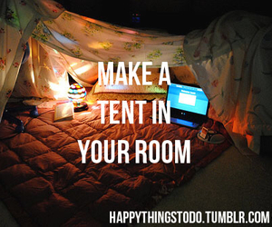 tent, room, and tumblr image