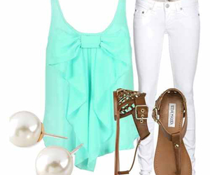outfit, summer, and white image