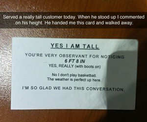 card, conversation, and guy image