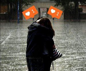 love, hug, and rain image