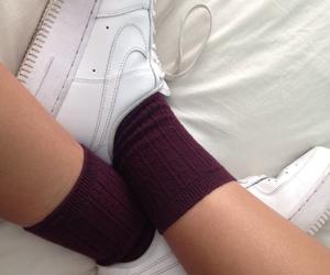 nike, pale, and socks image