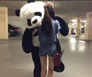 panda and girl image