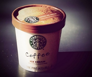coffee, starbucks, and ice cream image