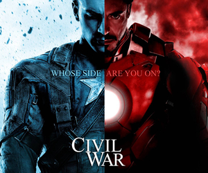 captain america, civil war, and Marvel image