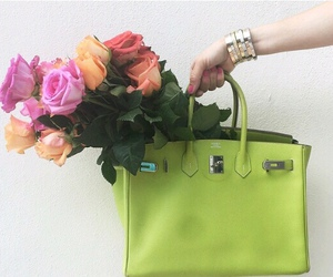 chic, flowers, and hermes image