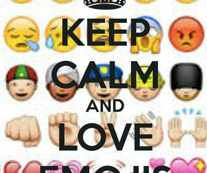emojis, keepcalmand, and iloveemojis image