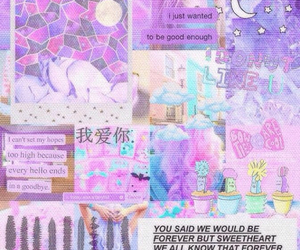 texture, pastel, and purple image