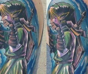 Legend of Zelda and tattoo image