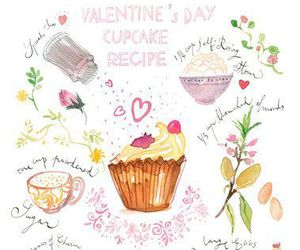 illustration, Valentine's Day, and water color image