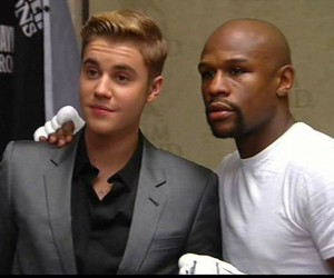 box, justin bieber, and floyd mayweather image