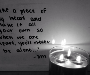 candle, mendes, and quote image