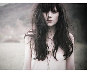 black hair, fear, and long hair image