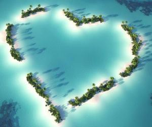 heart, Island, and water image