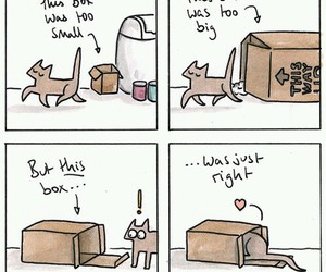 box, cat, and comic image