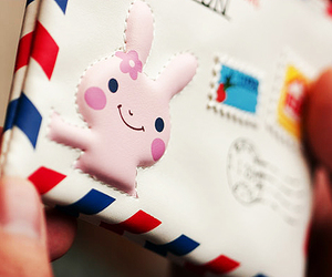 bunny, Letter, and cute image