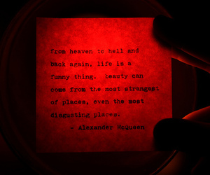 quote, Alexander McQueen, and beauty image