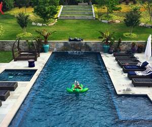 backyard, home, and luxury image