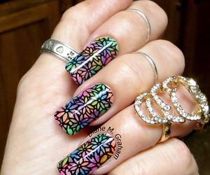 manicure, nail art, and nail polish image