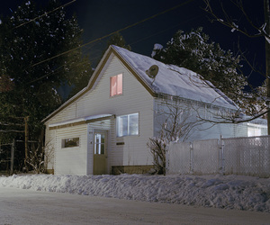 snow, house, and night image