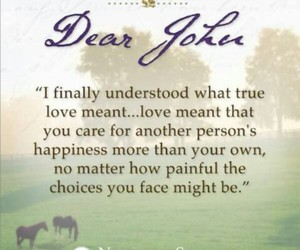 dear john, nicholas sparks, and book image