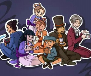 video game, crossover, and professor layton image