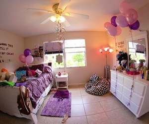 room, bedroom, and purple image