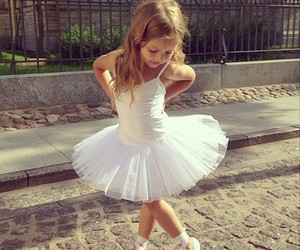 girl, ballerina, and baby image