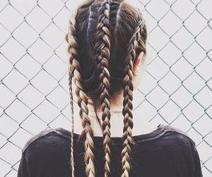 black, braid, and diy image