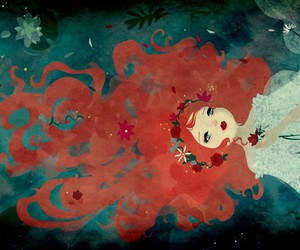 ophelia and red; hair; illustration image