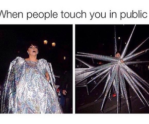 funny, Lady gaga, and touch image