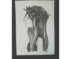 black, crown, and drawing image