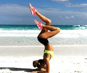 fitness, girl, and beach image