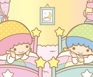 sanrio, sleep, and little twin stars image