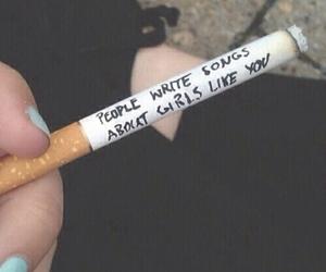 bambi, black, and cigarette image