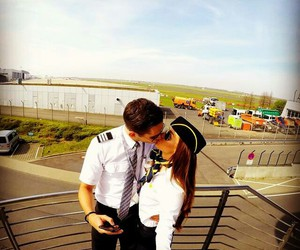 airport, love, and aviation image