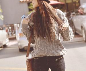 kfashion, purse, and sweater image
