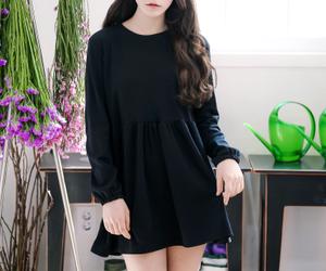 black dress, kfashion, and pretty image
