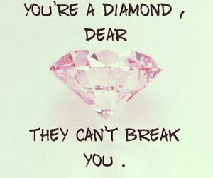 diamond, girls, and quotes image