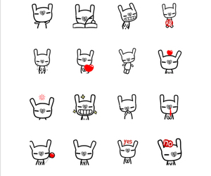 chat, sticker, and line image