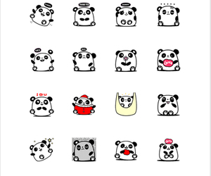 chat, line, and panda image