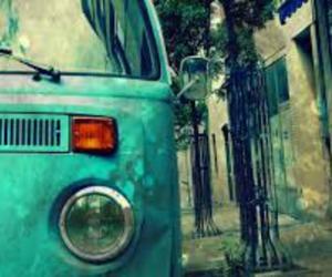 vintage, car, and blue image